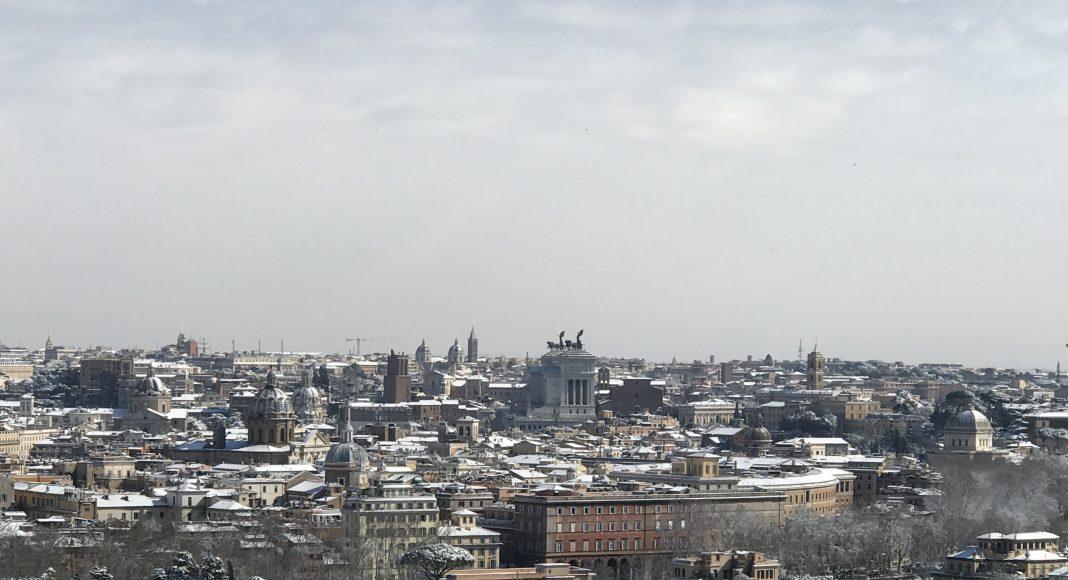 Roma con La neve - Panoramica